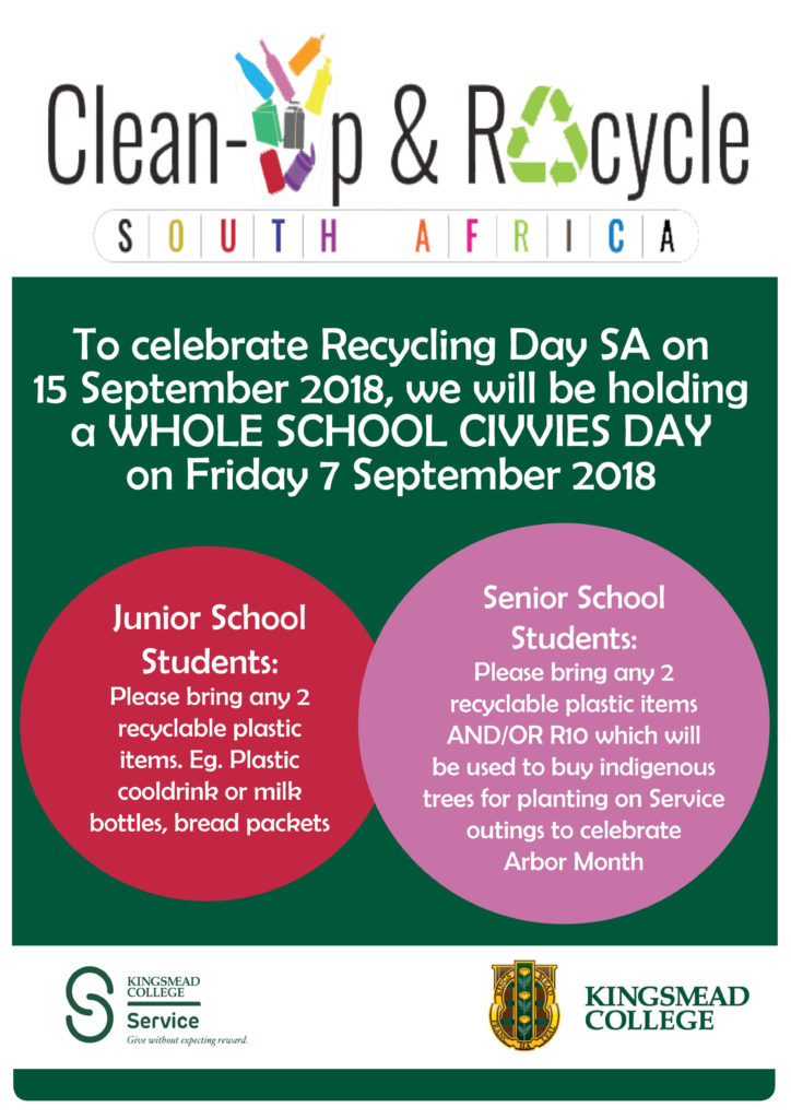 Civvies day Kingsmead College