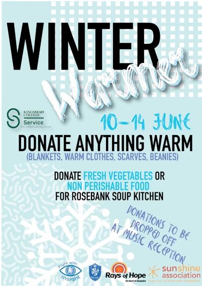 Winter Warmer Kingsmead College