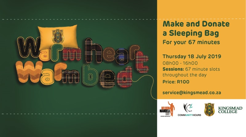 make and donate a sleeping bag kingsmead mandela day-min