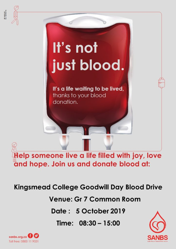 Blood Drive Poster 2 Kingsmead College