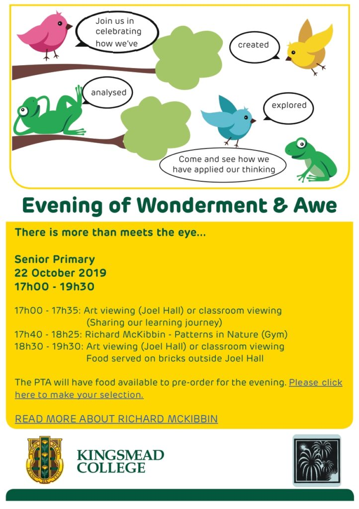 Evening of Wonderment and Awe SP 2019 page 0001 Kingsmead College