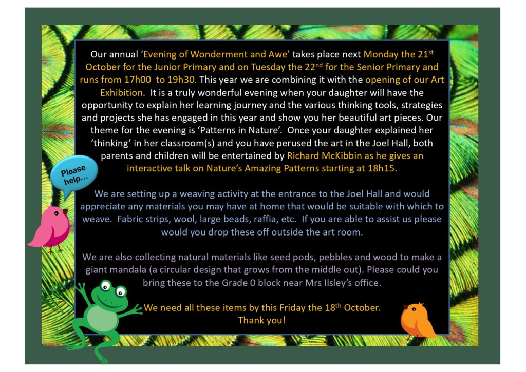 Wonderment Awe Evening for newsletter page 0001 Kingsmead College