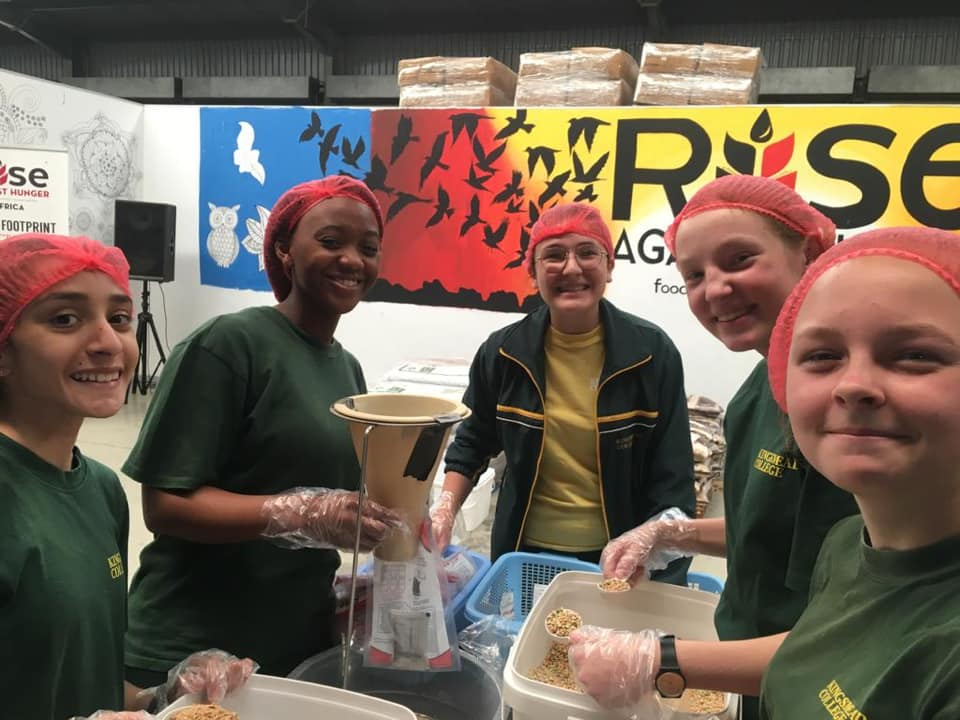 Kingsmead College in November with Rise against Hunger