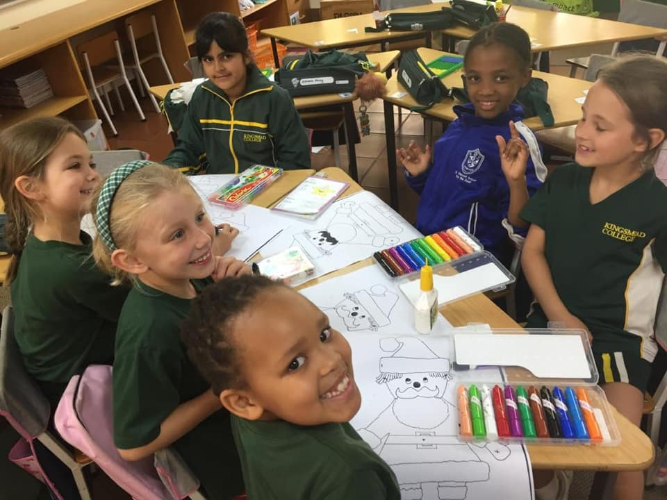 St vincent school and Kingsmead students