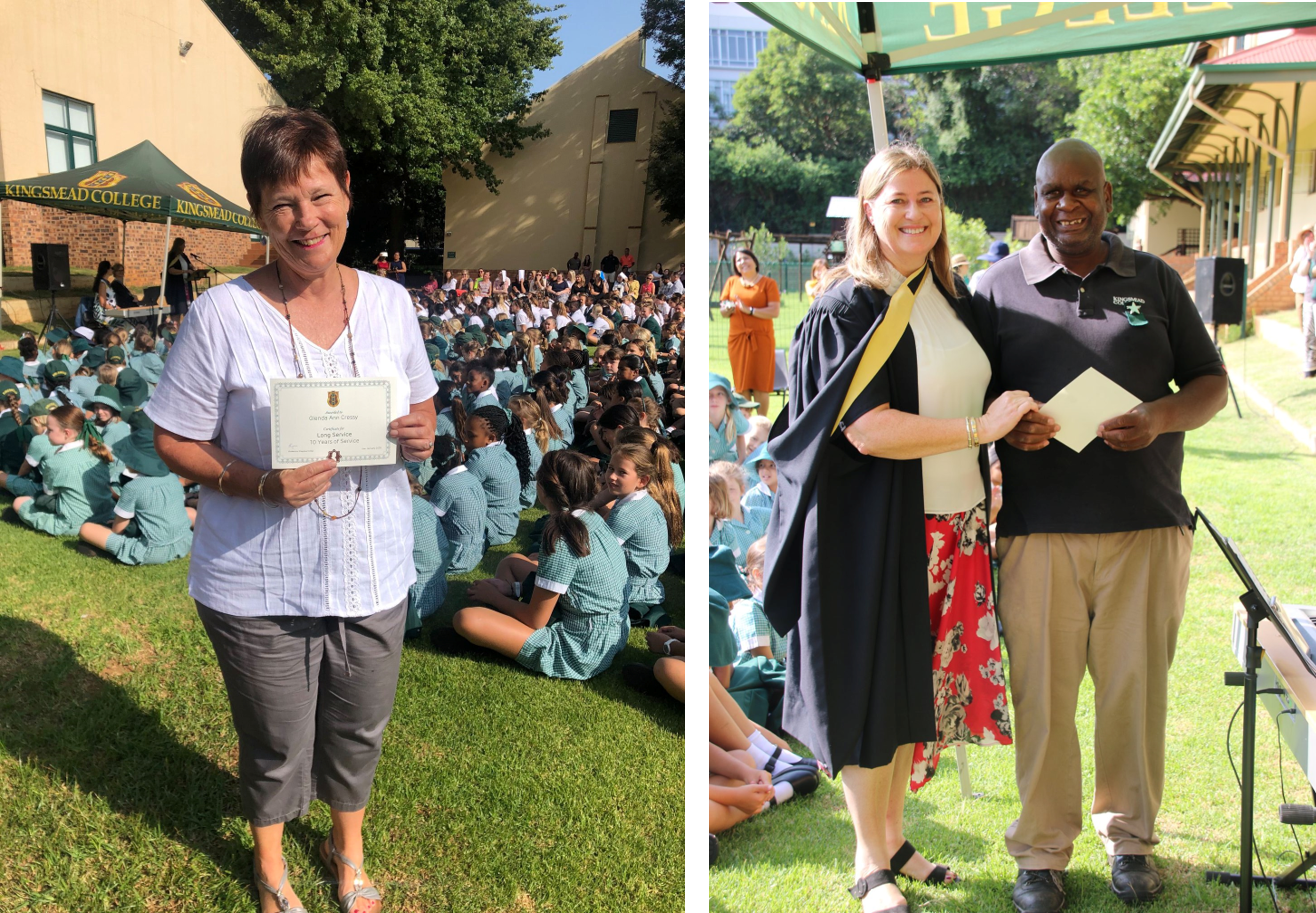 Kingsmead College Staff years of service
