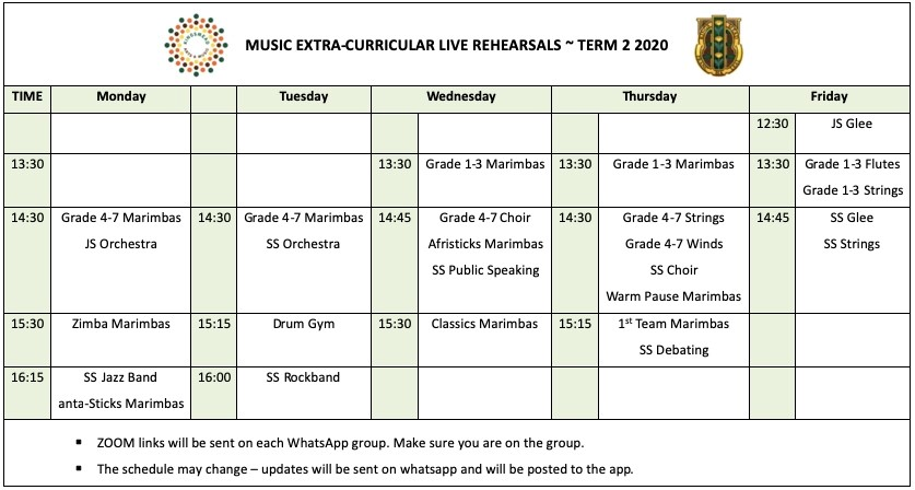 EC TIME TABLE Kingsmead College
