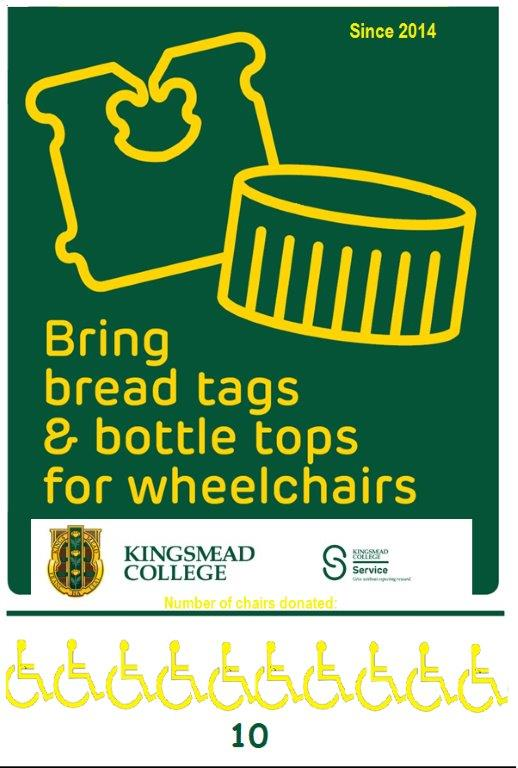 breadtag bottletop poster wheelchair 10 Kingsmead College