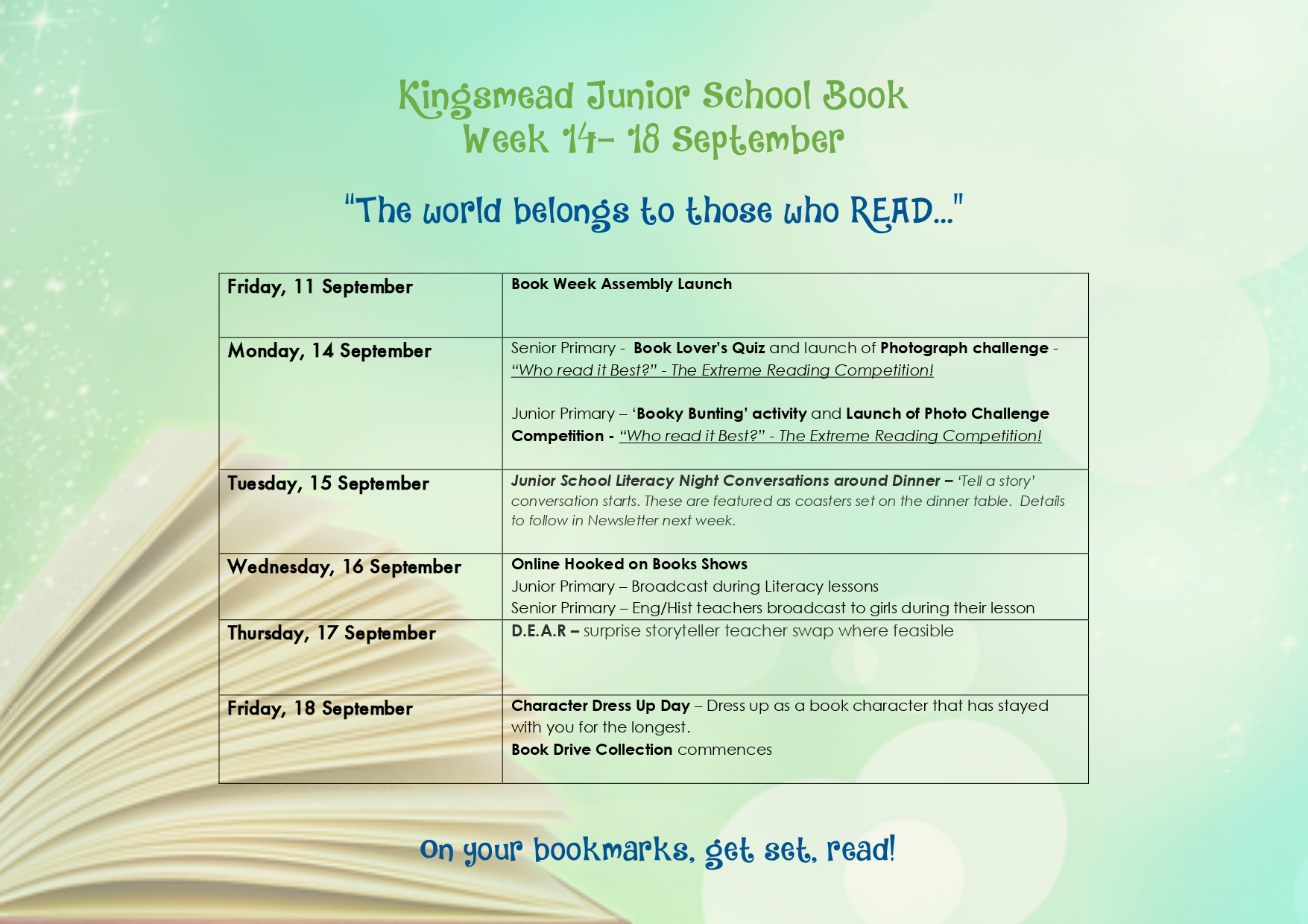 Kingsmead Junior School Book Week page 0001 Kingsmead College