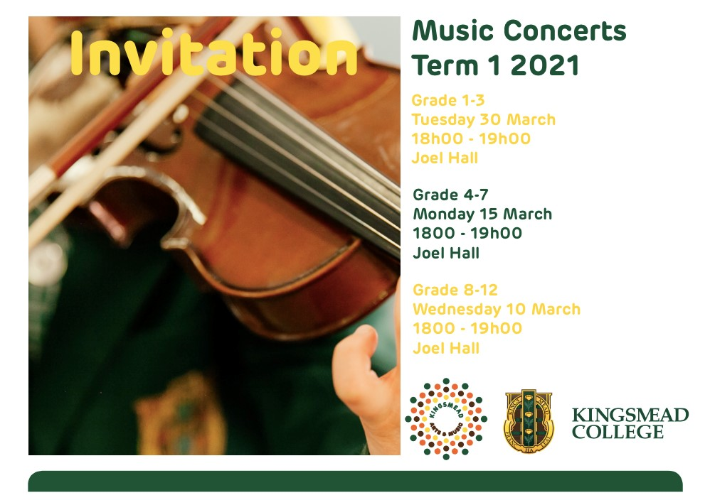 Music Concerts Kingsmead College