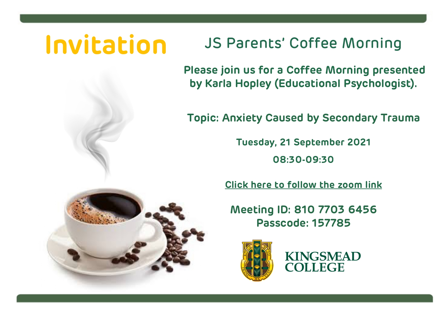 JS Coffee Morning Invite 2021 page 0001 Kingsmead College